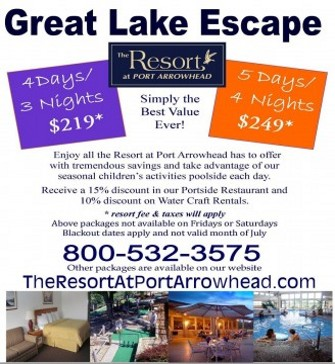 Great Lake Escape Port Arrowhead Resort