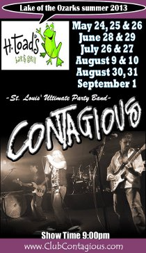 CONTAGIOUS ST LOUIS' FAVORITE PARTY BAND at H. Toad's