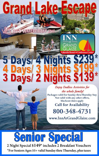 Grand Lake Escape 5, 4 or 3 Day Package