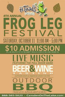 4th Annual Frog Leg Festival 10/11 H. Toad's