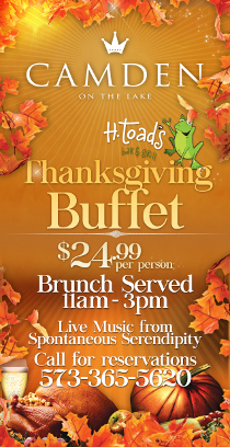 Thanksgiving 11/26 Toad's